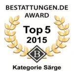 Logo bestattungen.de Award Top 5